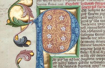 odprt pogled v rokopisno dediscino
